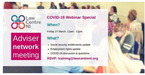 Law Centre NI – Covid 19 Webinar Special